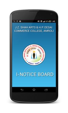 "We have introduced our new Mobile app named ""amroli college"".we are the first in grant In Aid (Arts & Commerce)College to introduced this kind of mobile application in Gujarat .Kindly visit the following link for more details.it can be download from play store by searching ""amroli college"" https://play.google.com/store/apps/details?id=com.amrolicollege.inoticeboard"
