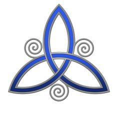 Blue Trinity Knot Tattoo Design