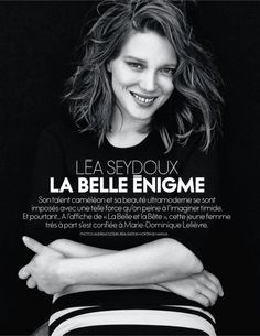 ☆ Lea Seydoux | Photography by Andreas Sjodin | For Elle Magazine France | February 2014 ☆