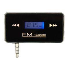 3.5mm Wireless Jack Stereo Radio FM Car Transmitter For iPad2/3/4/5 iPad Mini iPad Air iPhone4/4S/5/5C/5S iPod Touch MP3 Players Samsung HTC Smartphones 3.5mm Audio Devices EleMall http://www.amazon.com/dp/B00M0F7K74/ref=cm_sw_r_pi_dp_Hb.1tb0BWFTM4K6C