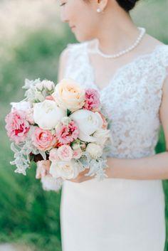 Soft palette wedding bouquet