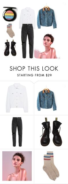 """""""Lesbian Casual Glam"""" by starsthroughtheglass ❤ liked on Polyvore featuring rag & bone, Carhartt, RE/DONE, Dr. Martens, Rituel de Fille and RED Valentino"""