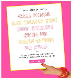 Kate Spade's email that went out today.  Gotta love Kate Spade.