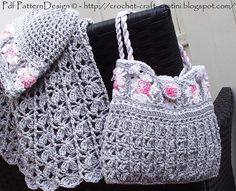 Ravelry: GREY GRANNY SQUARE BAG.  For Little and big girls! Crochet Pattern by  Ingunn Santini