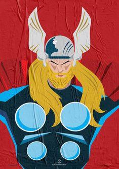 Wiskow • Amor Bandido • Pôster Série Super-Heróis Barbudos #thor #hq #quadrinhos #design #posters