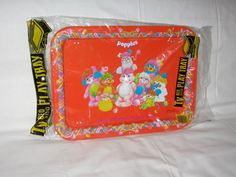 vintage 1986 those characters from cleveland popples metal picture lap tray on Etsy, $30.00