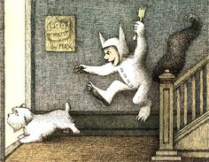 Maurice Sendak: Where The Wild Things Are  This was my favorite book when I was little I would check it out at school all the time