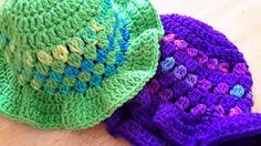 Chapeau d'été au crochet pour bébé garçon ou fille avec visière grandeur 9-12 mois vert lime ou mauve de la boutique Agadoux sur Etsy