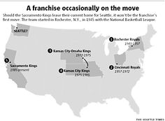 The Minneapolis Lakers moved to LA, where there's no lakes and The New Orleans Jazz moved to Utah, where there's no jazz.