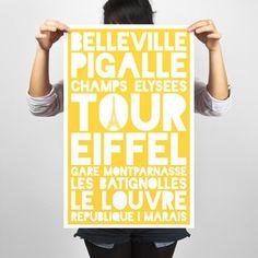 Paris Poster featured on Fab Tour Eifel, City Poster, Paris Poster, Paris Neighborhoods, Flights To Paris, Louvre, Paris City, Eiffel, Airline Tickets