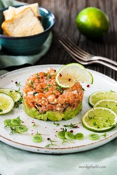 Salmon Eggs, Salmon Avocado, Dinner Options, Avocado Recipes, Fish Dishes, Party Snacks, Fish And Seafood, Clean Eating Snacks, Food Inspiration