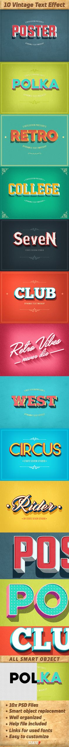 Vintage Text Effects Pack