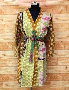 Cotton Kimono, Cotton Jacket, Long Jackets, Jackets For Women, Clothes For Women, Bohemian Kimono, Tank Dress, Kimono Dress, Patchwork Designs