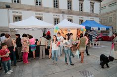 Algunos de los stands que formaron parte de Vigo Shopping Night