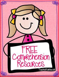 FREE reading comprehension strategies for standardized testing. TeacherKarma.com