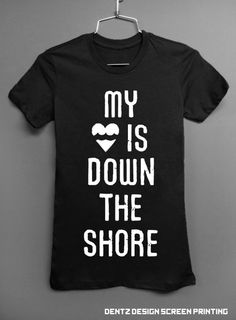 #hurricane #nj #jerseyshore  BLACK  - New Jersey Sandy RELIEF T-shirt - My heart is down the shore. $20.00, via Etsy.