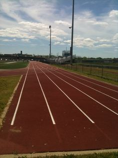 Centereach Track starting line for sprints