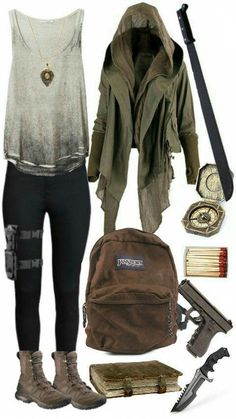 Love this lara croft inspired outfit – # Ich liebe dieses von Lara Croft inspirierte. Zombie Apocalypse Outfit, Apocalypse Fashion, Apocalypse Aesthetic, Apocalypse Survival, Fandom Outfits, Emo Outfits, Casual Outfits, Teen Fashion, Fashion Outfits