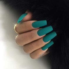 Manicured Nails, but people choose it with a twist like having different colors per finger or there's one finger that's different from the others. You choose and decide which one suits you. Related Postsfall acrylic nail art designs and pretty acr Turquoise Acrylic Nails, Teal Nails, Long Acrylic Nails, Acrylic Nail Art, Acrylic Nail Designs, Long Nails, Turquoise Art, Emerald Nails, Matte Nail Art