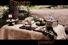 Moore Minutes: camp SWEET camp: a S'More Dessert Buffet