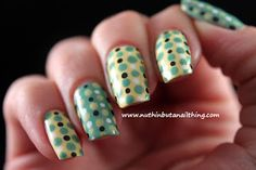 sinful colors unicorn and mint apple polka dots