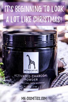 It's beginning to look a lot like Christmas! Natural Teeth Whitening, Activated Charcoal, White Teeth, Perfect Christmas Gifts, Mother Nature, That Look, Organic, Cosmetics, Beauty