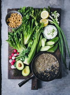 Savory Yogurt Bowl with Spicy Chickpeas & Cucumber Salad
