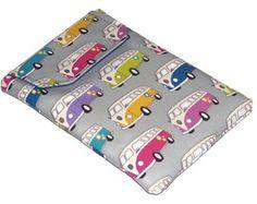 Ipad Mini Case in VW Camper Van fabric, Dub Luv, Retro Splitty Tablet Case, UK Seller