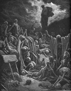 """The vision of the valley of dry bones"" by Gustave Doré from ""The Holy Bible with Illustrations"""