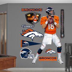 Peyton Manning - Fathead - Denver Broncos - NFL