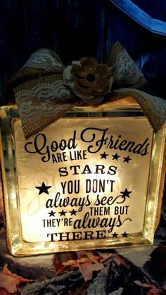Good friends are like stars, best friends, home decor, friend gifts