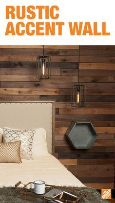 Build a statement wall with beautiful and rustic barn wood. Primed and painted to look authentically weathered, this wood is sure to give your home a unique style. Click to explore all easy-to-install appearance wood and begin your next DIY project.