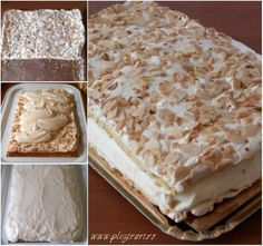 Sweets Recipes, No Bake Desserts, Cake Recipes, Cooking Recipes, Romanian Desserts, Romanian Food, Square Cakes, Sweet Tarts, Dessert Drinks