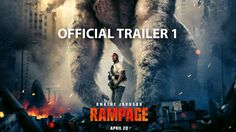 """In Theaters April 2018 -- Global megastar Dwayne Johnson headlines the action adventure """"Rampage,"""" directed by Brad Peyton. Primatologist Davis Okoye (Johnson), a man who keeps people at a distance, shares an unshakable bond with George, the. 2018 Movies, Hd Movies, Movies To Watch, Movies Online, Movies Free, Full Movies Download, Jeffrey Dean Morgan, Box Office, Flims"""