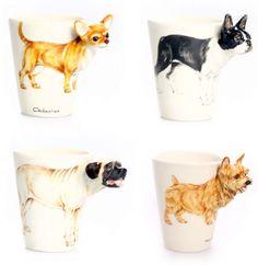 Blue Witch Dog Breed Mugs