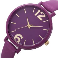 Bracelet Faux Leather Watch //Price: $7.95 & FREE Shipping //     #ladieswatch