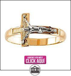 Icecarats funda joyas 14K amarillo/blanco oro de dos tonos para hombre Crucifijo anillo tamaño 10  ✿ Joyas para hombres especiales - lujo ✿ ▬► Ver oferta: https://comprar.io/goto/B00GSD4CHK