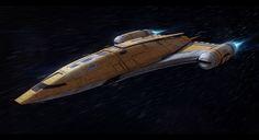 Star Wars Nubian Corvette Commission by AdamKop