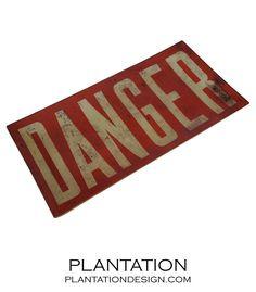 Danger Decoupage Tray
