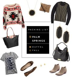 packing list: palm springs