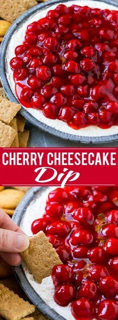 Cherry Cheesecake Dip Recipe   Dessert Dip   Cherry Cheesecake   Cheesecake Dip