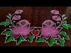 2020 New year special Rangoli dot's. Best Rangoli Design, Rangoli Designs Latest, Rangoli Designs Flower, Free Hand Rangoli Design, Latest Rangoli, Rangoli Patterns, Rangoli Kolam Designs, Rangoli Designs Images, Rangoli Designs With Dots