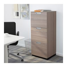 GALANT File cabinet, gray gray 20 1/8x47 1/4