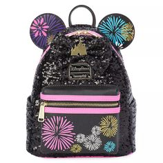 Minnie Mouse: The Main Attraction Loungefly Mini Backpack – Nighttime Fireworks & Castle Finale – Limited Release | shopDisney