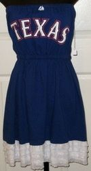 Love this Blue Texas Rangers dress with the White ruffles..