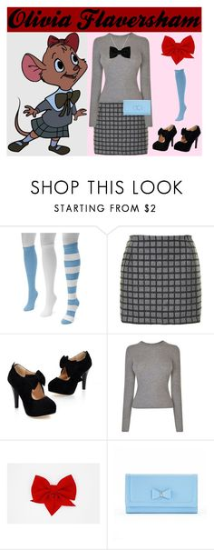 """""""Olivia Flaversham"""" by kitty-claws ❤ liked on Polyvore featuring Muk Luks, Topshop, Vince, Apt. 9, contestentry, fashionset and disneycharacter"""