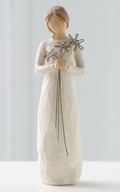 """Willow Tree Grateful Figurine """"I'm so grateful for your friendship"""""""