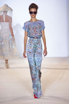 Temperley London S/S 13. Jumpsuit with summer pattern