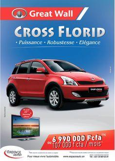 Newsletter Espace Auto, distributeur au Sénégal de la marque automobile chinoise Great Wall. Promotion pour le modèle Cross Florid (juillet 2012)