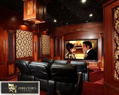 Love The Wood Tone Of This Theatre Room